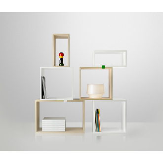 JDS Architects Stacked Shelf System