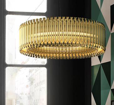 Delightfull Matheny Round Suspension Lamp
