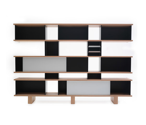 charlotte perriand nuage bookshelf and cupboard. Black Bedroom Furniture Sets. Home Design Ideas