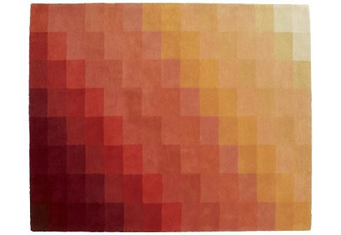 Nick Rennie Chart Orange Rug