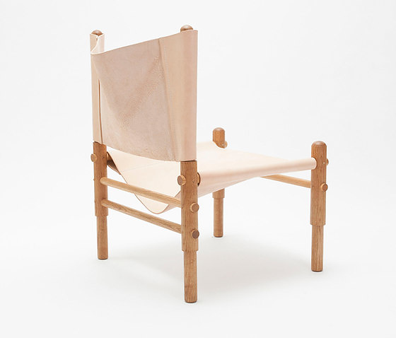 Workstead Sling Oak Chair and Ottoman Collection