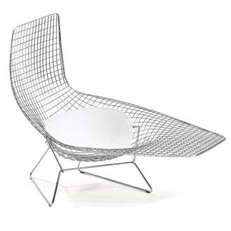 Bertoia asymmetric chaise for Bertoia asymmetric chaise