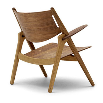hans j wegner ch28 sawhorse easychair. Black Bedroom Furniture Sets. Home Design Ideas