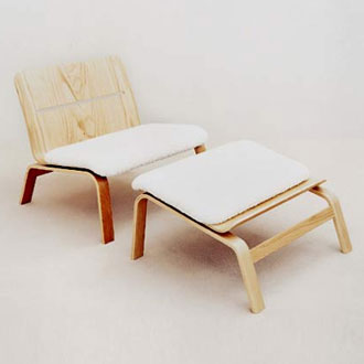 Mårten Claesson, Eero Koivisto and Ola Rune Bowie Lounge Chair