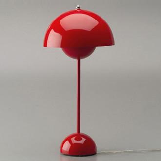 verner panton flowerpot pendant and table lamp. Black Bedroom Furniture Sets. Home Design Ideas