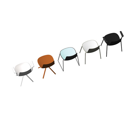 Alberto Lievore, Jeanette Altherr and Manel Molina Lottus Chairs