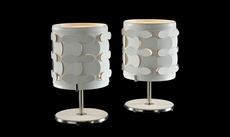 Alessandro Trentin and Carlo Zerbaro Velvet Table Lamp
