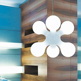 Benjamin Hopf and Constantin Wortmann Atomium Ceiling Lamp