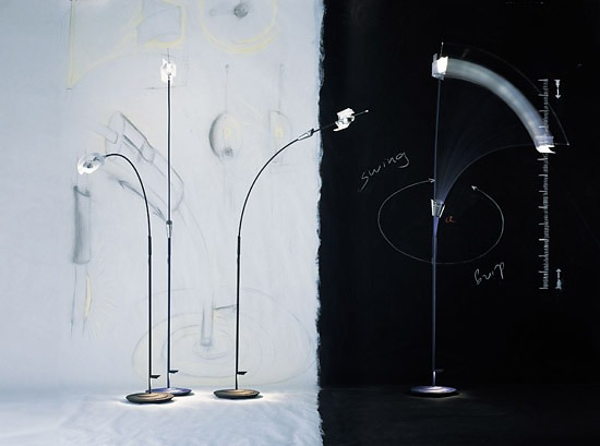 Bernhard Dessecker Swingading Lamp
