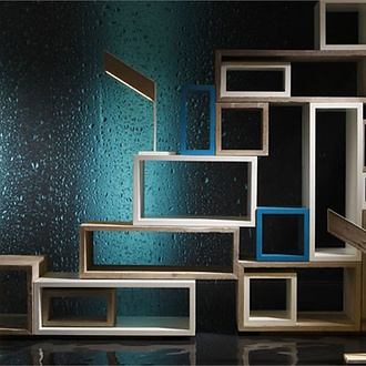 bleu nature natsiq bookcase. Black Bedroom Furniture Sets. Home Design Ideas
