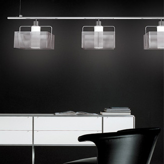 Carlo Zerbaro and Alessandro Trentin IX Triple Hanging Lamp
