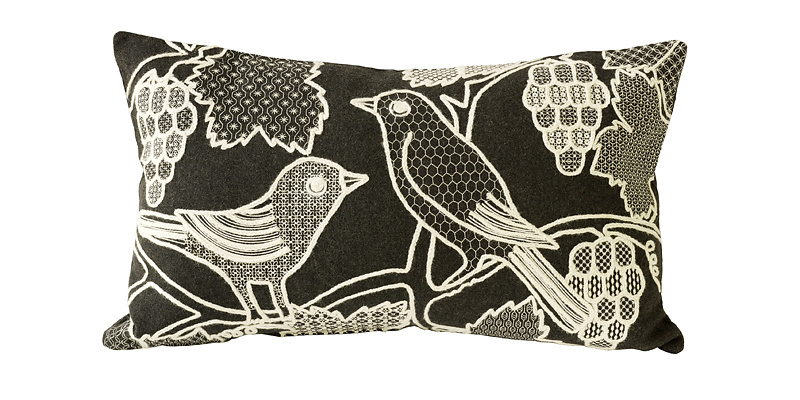 Charlene Mullen Blackbirds Cushion