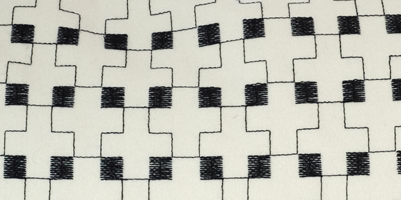 Charlene Mullen Double Cross Cushion