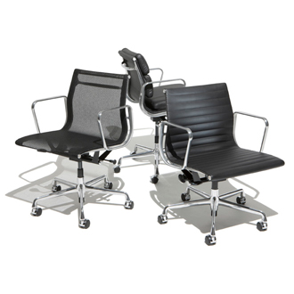 Charles Eames and Ray Eames Eames Aluminum Group Chairs