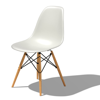 Charles eames and ray eames eames molded plastic chairs for Eames molded plastic dowel leg side chair
