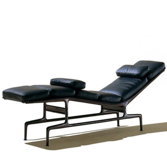 Charles eames and ray eames eames chaise for Charles eames chaise a bascule
