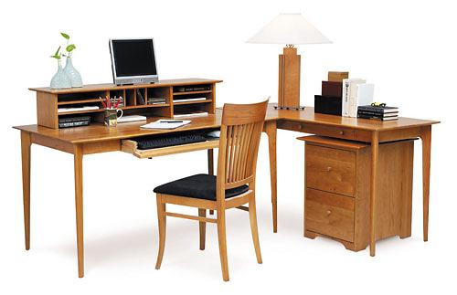 Copeland Furniture Sarah Desk, Return, Desktop Organizer And Rolling File