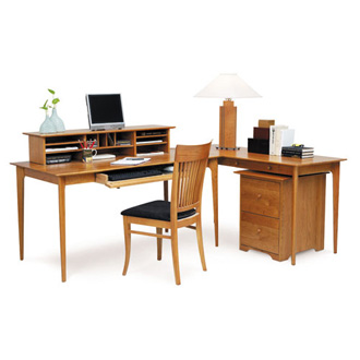 Copeland Furniture Sarah Desk, Return, Desktop Organizer And Rolling File