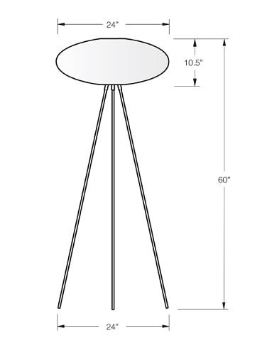 dform Spiral Floor Lamp