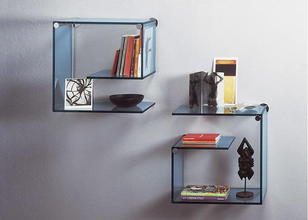 Emilio Nanni and Fabio Bortolani Alfabeta Glass Shelves