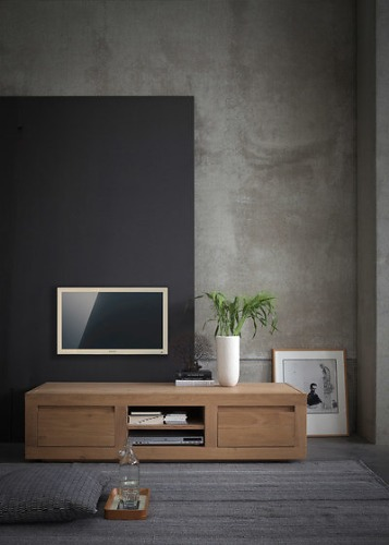 Ethnicraft Oak Flat Sideboard Collection