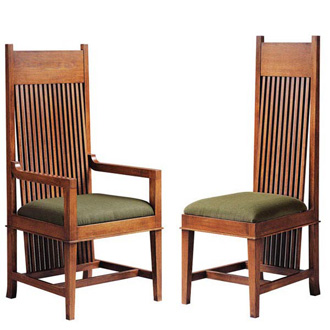 Frank Lloyd Wright Dana-Thomas Large Arm And Side Chair