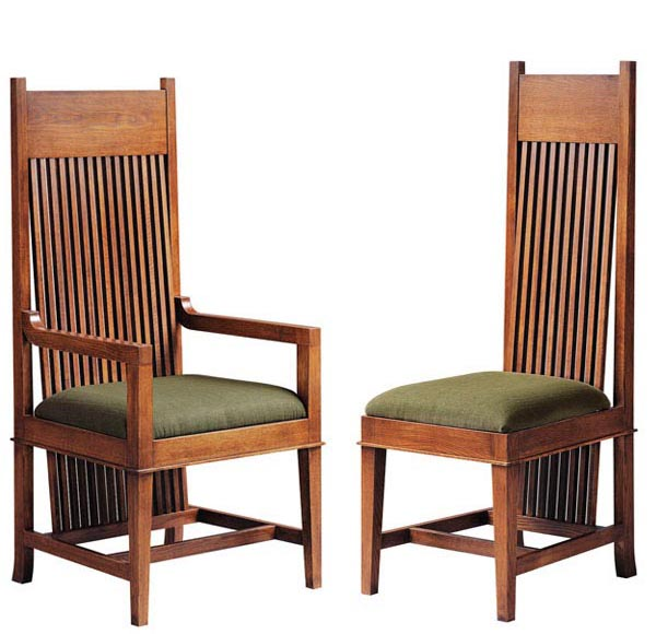 Frank Lloyd Wright Dana Thomas Large Arm And Side Chair