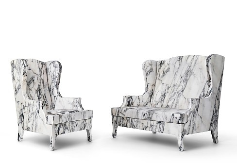 Galante and Lancman Louis XV Goes To Sparta Sofa