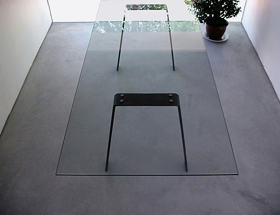 Gerard Der Kinderen Local Glass Steel Table