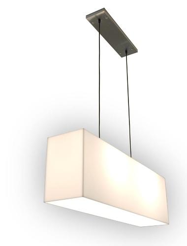 Gus Modern White Acrylic Hanging Lamp