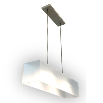 Gus Modern Frosted Acrylic Hanging Lamp