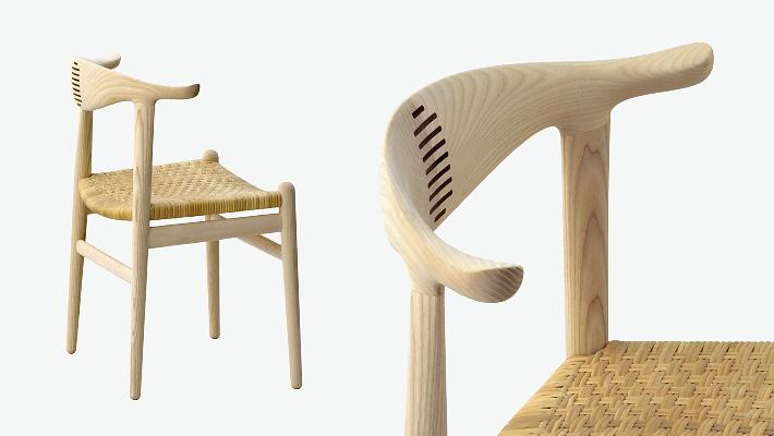 Hans J. Wegner PP505 The Cow Horn Chair