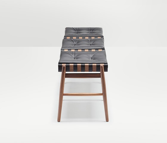 Hierve Leather Triple Stool