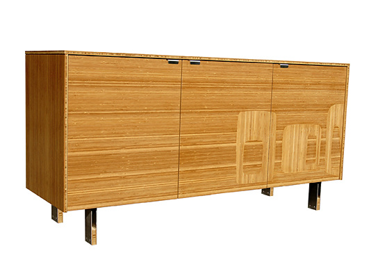 James Sanderson and Michael Iannone Green Mod: Midcentury Inlay Credenza