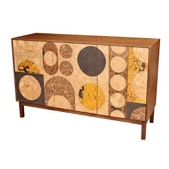 James Sanderson and Michael Iannone Cork Mosaic Sideboard
