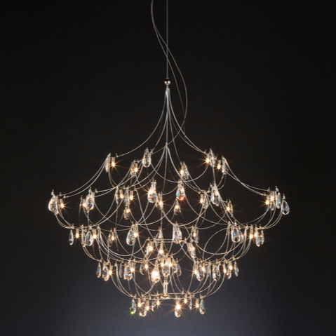 Jan Pauwels Crystal Galaxy Chandelier
