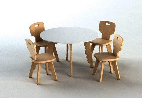 Javier Mariscal Reiet Chair and Table