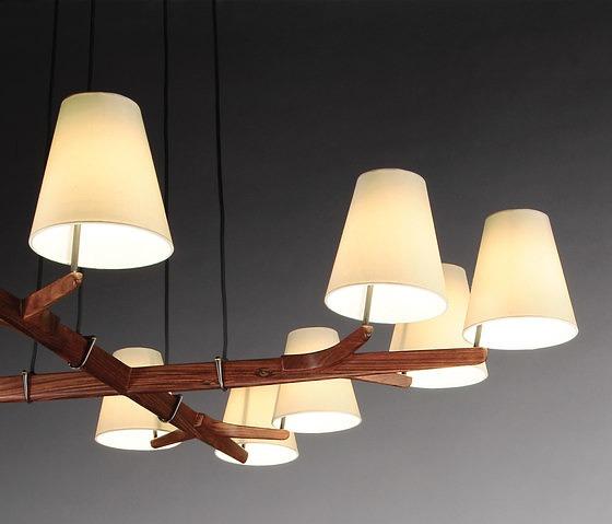 J.T. Kalmar Design Team Holzstern Lamp