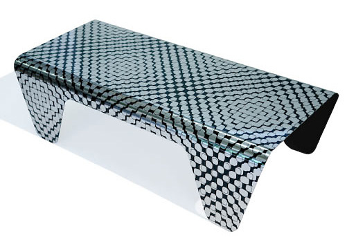 Kevin Kane Moire Coffee Table