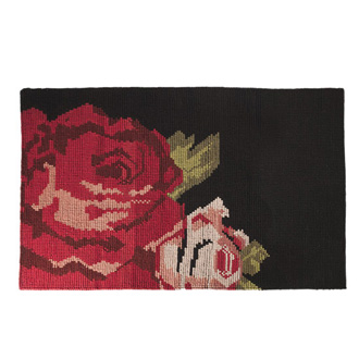 Kiki Van Eijk Rose Loop Black Carpet