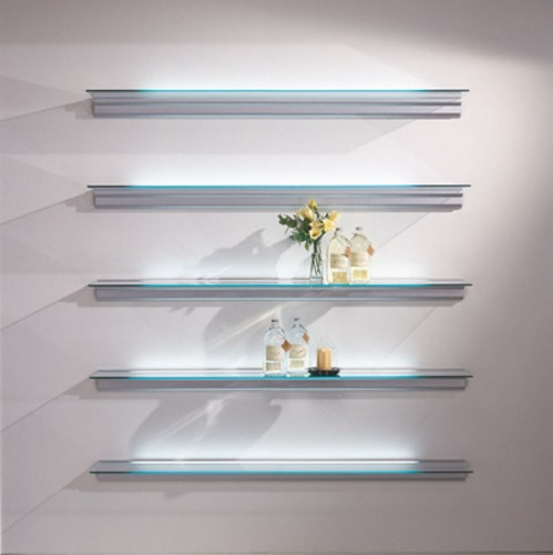 Lluis Clotet and Oscar Tusquets Blanca Hialina Shelving