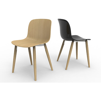 Marcel Wanders Troy Chair With Wooden Legs