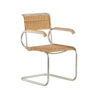 Marcel Breuer D40 Bauhaus-Cantilever Chair With Armrests