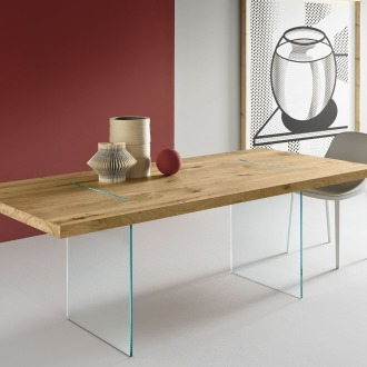 Marco Gaudenzi Tavolante Aged Oak Table