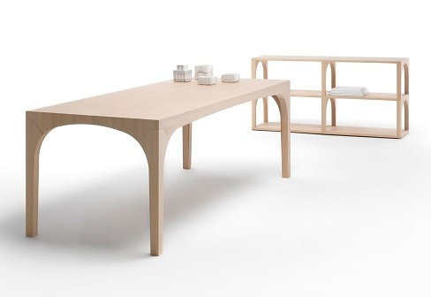 Mârten Claesson, Eero Koivisto and Ola Rune Portico Bookshelf and Table