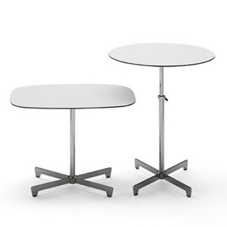 Santa Fe Round adjustable height table with 4 side chairs | Dining
