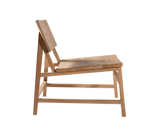 Nathan Yong Oak N-Chairs Lounge Chair