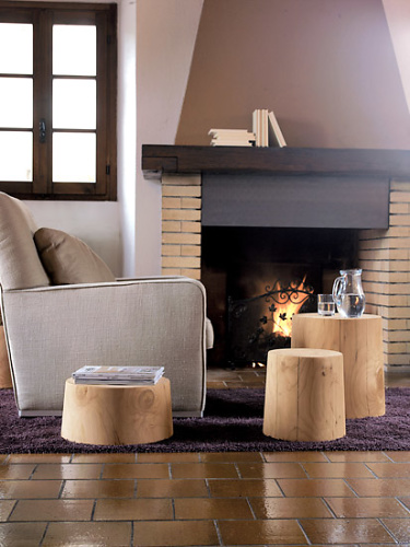 Natura Collection By RIVA Legno Vivo Small Table - Stool