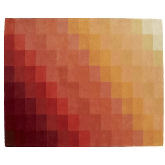 Nick Rennie Chart Orange Rug