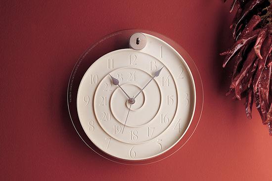 Oscar Tusquets Blanca Nautilus Wall Clock